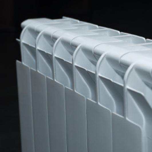 Detalle de radiador de aluminio Serie CB